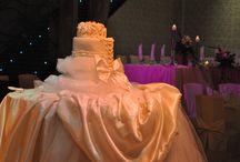 Baby Girl & Wedding Deco / Pink & Gold Wedding - Christening Decoration