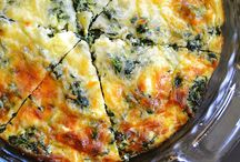 mushrooms and spinach eggs baked