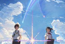 Anime Blue Color Sky