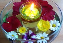 Feuerblumen Kerzen Deko / Kerzen Dekorationen mit wiederverwendbaren Schwimmlichtern