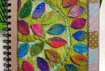 Textile art / colour and texture - yum