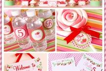 strawberry shortcake b-day party