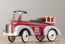 Fire truck station nursery for baby boy