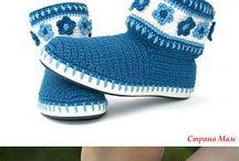 botas al crochet