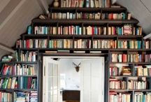Bookshelves, book art, book storage, libraries / by vicki oakland k