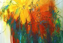 """Exhibition """"LUCE LAMOUREUX"""" / """"O trabalho da artista canadiana Luce Lamoureux coloca a natureza em destaque, ao mesmo tempo abre espaço para a abstracção em sua pintura. As nuances e a riqueza de detalhes das flores em contraste com fundos distantes da realidade, reflectem a leveza e a harmonia de suas obras"""" (José Roberto Moreira, curador e galerista)."""