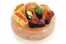 Cooking Salt Plates / Our cooking plates are uniquely carved from natural rock Himalayan salt with excellent grilling surface for serving hot food including with seared shrimp, fish and meat