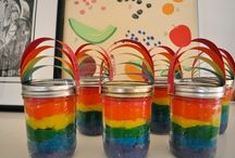 Rainbow party! / by Amy Hershey