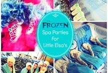 Frozen Children's Party Theme London / A beautiful frozen princess themed spa and pamper party for children's birthday parties and events. A popular kids party theme by Grumpy But Gorgeous Parties. Read more: https://www.grumpybutgorgeous.com/princess-pamper-parties.html Email: bookings@grumpybutgorgeous.com Tel: 02032392026