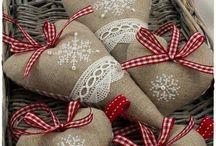 textil diszek-szivek...