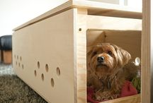 Pet Crates and Beds / Combining two of my favourite things - pets and crates. Beautiful designs!