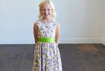 Floral flower girl dresses / Floral girl's dresses for weddings