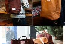 bags cases leather&canvas / by Rosalyn B.