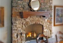 Fireplaces / Natural stone fireplaces make great accents features indoors and out. See some of our natural stone fireplace installs here and get started on your design with us today!
