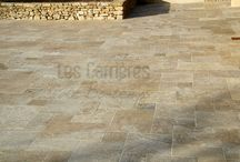 French Limestone  Antic south of France / # French Limestone # flooring # golden colors # aged limestone # authentic  # swimming pool