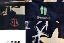 Personalized Towel ideas / Personalized towels solve the problem of wet towels on the floor. They also make a great gift! Visit my blog for more great organizing and gifting ideas!  www.canadianbaglady.blog
