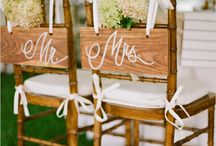 | Weddings | Chair Styling Inspiration / Inspiration for Wedding chair styling