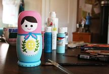Altered Babushka/Matryoshka Dolls