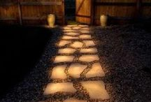 Outside Decoration using Phosphorescent Glow in Dark Powder