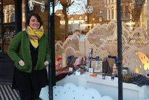 CHRISTMAS WINDOW 2014 // FFENESTR NADOLIG 2014 / Drws y Coed: Cloudscape // Cymyl-lun  05/11/14 >> 04/01/15 Following an international call out to artists and makers, the beautiful art-nouveau windows of the MOSTYN Shop will be home to a winter cloudscape installation, designed by Hannah Wardle of North Wales lighting company 'Drws y Coed'.  http://www.mostyn.org/shop/christmas_window_2014/