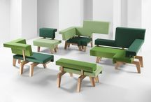 PROOFF #002 WorkSofa / An inspiring place built for communication. Sitting. Standing. Lounging. Close-up. Side by side or across. Stylish pieces of a puzzle allow for endless configurations and settings for public meetings, presentations, brainstorm sessions, group work or a meeting with oneself. Find more information @ www.prooff.com