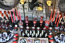 Spooky Soiree Ideas / Host the perfect Halloween Soiree' with inspiration from Crissy's Crafts and Oriental Trading. Find all of the dark and spooky Halloween decorations, décor, and tableware you see here: http://bit.ly/1a4Q2ob