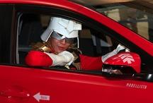 Customized Toyota Auris as Char Aznable from Gundam