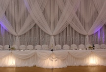 Backdrops / Backdrops tailored to unique tastes and styles of our happy bride and grooms and event planners.
