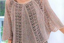 : Tops, dresses, skirts crochet :