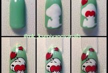 cartoon nails art