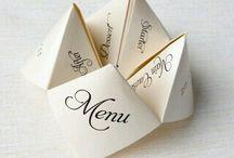 Wedding name tags en menus