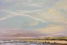 schilderijen van Heleen van Lynden /  zeegezichten