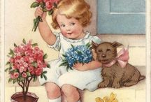 Vintage Postcards Illustrations