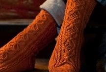 Socks / Meias em tricot.