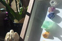 charka stone shadow box craft meditation room