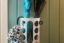Umbrella Storage Hacks / You use your umbrella when it's very sunny, windy, raining, or snowing, but what do you do with them when you don't need them? Check out these innovative ideas on how to keep you umbrellas accessible, but also stylish to your home!