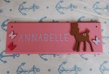 Children's Bedroom Door Name plaques Name Signs