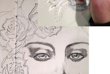 craft inspiration: faces. (drawing + coloring tutorials). / by Jenn Zicherman