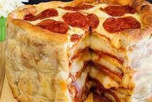 Pizza und Burger...