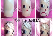 Dolls nailart tutorials