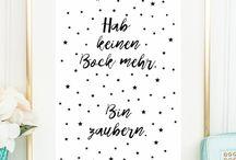 sprüche / hand lettering