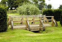 Venables Oak project: Baddily Corner / Bespoke oak bridges, gates, pergola and trellis