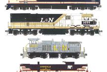 Locomotoras diesel y electricas