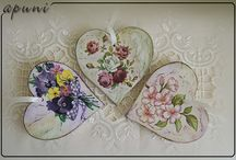 decoupage picture and on furniture