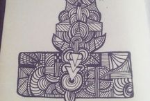 Zentangle / All the following doodles were created by me