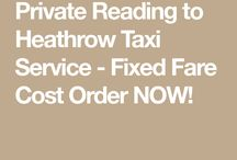 Reading to Heathrow Taxi Cost