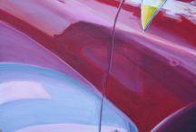 ET LA FÉE EN A RIT / VOITURE/Ferrari/PEINTURE Acrylique sur toile  60x60
