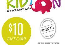 Free $10 Gift Card for Kidton's Newsletter Signup, Please visit www.kidton.com for details.