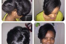 Natural hair flat ironed / Natural hair is versatile