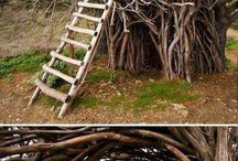 kreative Holzmöbel